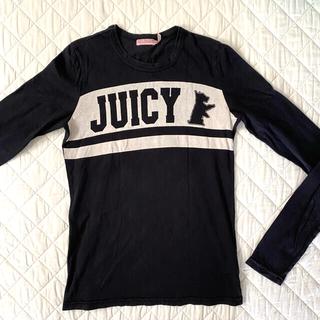ジューシークチュール(Juicy Couture)のジューシークチュール 長袖 Tシャツ Sサイズ 黒 ロゴTシャツ(Tシャツ(長袖/七分))