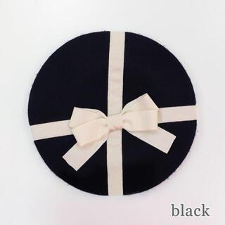 エミリーテンプルキュート(Emily Temple cute)の完売アイテム♡新品未使用♡エミリーテンプルキュート プレゼントベレー帽 ブラック(ハンチング/ベレー帽)