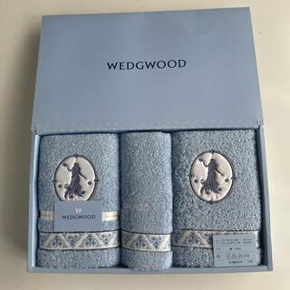 WEDGWOOD - WEDGWOOD ブルー フェイスタオル 2枚 &  ウォッシュタオル1枚