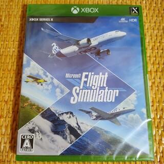 エックスボックス(Xbox)の新品未開封 xbox フライトシュミレーター スタンダードエディション(家庭用ゲームソフト)