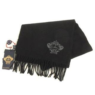 オロビアンコ(Orobianco)のオロビアンコ OROBIANCO マフラー ウール 刺繍 ワンポイント ブラック(マフラー)