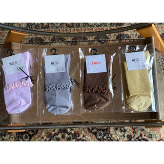 ウィゴー(WEGO)のレディース ソックス 靴下 4足セット 新品(ソックス)