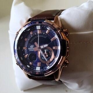 エディフィス(EDIFICE)の【新品未使用】CASIO EDIFICE デジアナ ストップウォッチ カレンダー(腕時計(アナログ))