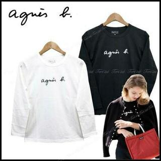 アニエスベー(agnes b.)のアニエスベー Agnes b 長袖Tシャツ Mサイズ ブラック レディース(Tシャツ(長袖/七分))