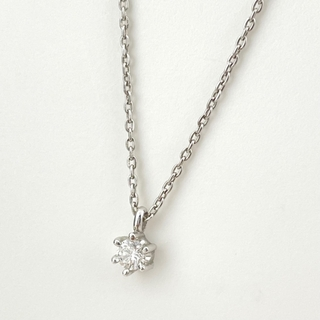 タサキ(TASAKI)のタサキ ダイヤモンド デザインネックレス WG 【中古】(ネックレス)