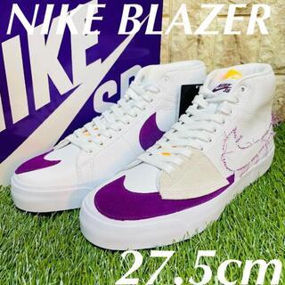 ナイキ(NIKE)のナイキ SB ブレーザー ミッド エッジ NIKE メンズ スニーカー 白紫(スニーカー)