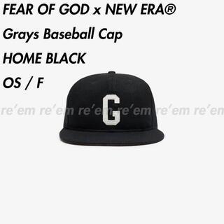 フィアオブゴッド(FEAR OF GOD)のFEAR OF GOD NEW ERA Grays Baseball Cap 黒(キャップ)