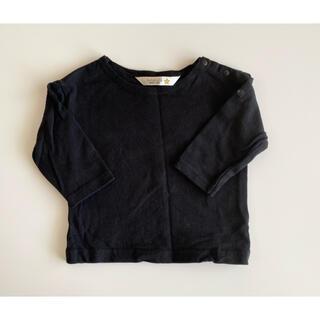 フタフタ(futafuta)のfutafuta ロンティー 黒 70(Tシャツ)
