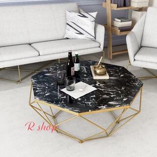 大理石ローテーブル センターテーブル テーブル 北欧風サイドテーブル