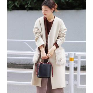 JOURNAL STANDARD - ★美品◆ジャーナルスタンダード◆軽暖♡ライトメルトンファーポケットコート