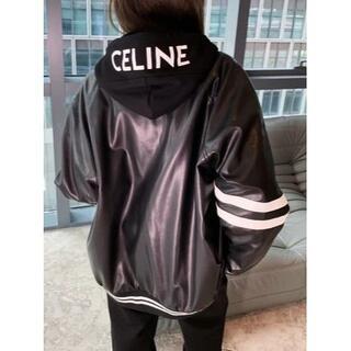 セリーヌ(celine)のCELINE 帽子のついた革ジャン(その他)