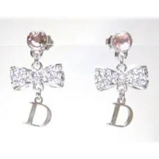 Christian Dior - ♡クリスチャンディオール♡ リボン ピアス ピンク
