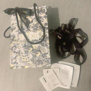 クリスチャンディオール(Christian Dior)のDior 限定ショッパー ショップ袋 リボン2本 試供品セット(ショップ袋)