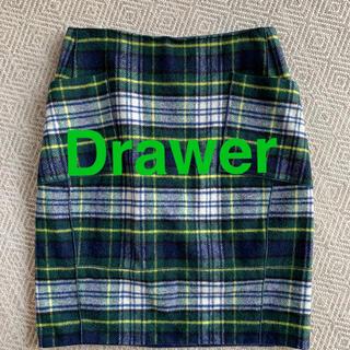 ドゥロワー(Drawer)のDrawer チェックタイトスカート(ひざ丈スカート)