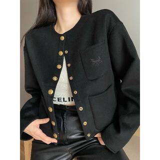 セリーヌ(celine)のCELINE 両面ウールは丸い襟のコートです(その他)