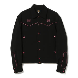 Needles - ニードルス NEEDLES パイピング カウボーイ シャツ ジャケット 黒 L