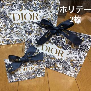 Christian Dior - ディオール ホリデー 2021 クリスマス限定 ラッピング ギフトボックス 2枚