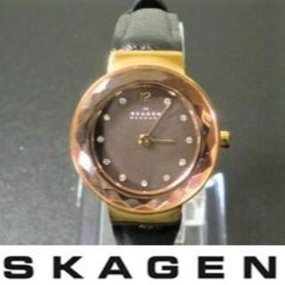 SKAGEN - 【稼働美品】SKAGEN レディース腕時計 電池、ベルト交換済