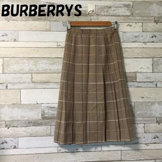 BURBERRY - 【人気】バーバリー ウール チェック柄スカート ブラウン系 サイズ7AR