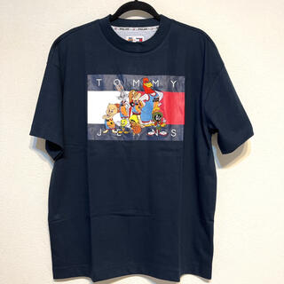 TOMMY HILFIGER - 新品 トミーヒルフィガー ロゴ スペースジャム コラボ 半袖 Tシャツ 紺 刺繍