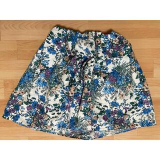 アクアガール(aquagirl)の花柄スカート(ひざ丈スカート)