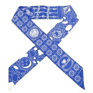 エルメス(Hermes)のエルメス  スカーフ  ツイリー   ブルー(スカーフ)