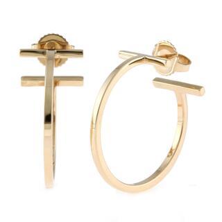Tiffany & Co. - 【中古】ティファニー TIFFANY&Co. ピアス  K18ピンクゴールド