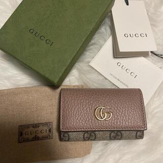 Gucci - GUCCI キーケース GGマーモント レザー