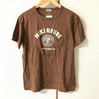 ミキハウス(mikihouse)のミキハウス レディース トップス 新品 未使用 半袖 ブラウン くま Tシャツ(Tシャツ/カットソー(半袖/袖なし))