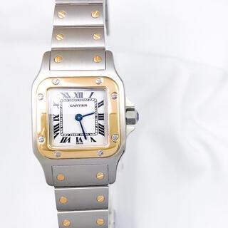 Cartier - 【仕上済】カルティエ サントスガルベ SM コンビ ブレス レディース 腕時計
