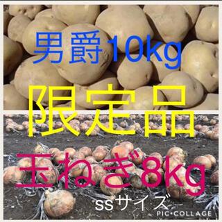 北海道産じゃがいも10kg玉ねぎss8kg(野菜)