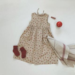 コドモビームス(こども ビームス)の韓国子供服/benebene バックリボン ノースリーブワンピース 8y(ワンピース)