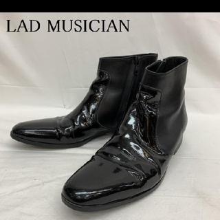 LAD MUSICIAN - 定価6万 ラッドミュージシャン エナメル ブーツ ブラック