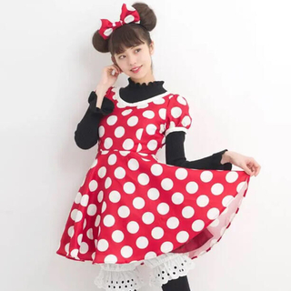 Secret Honey - シークレットハニー ディズニー ミニー 仮装 ドレス 水玉 ドット 衣装