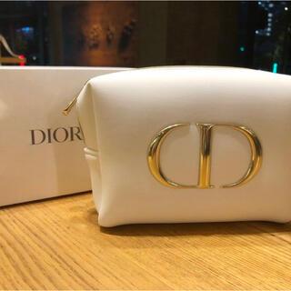 Dior - ディオール ノベルティ ふわふわ ロゴ ポーチ ホワイト