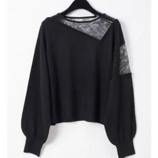 GRACE CONTINENTAL - Diagram  グレースコンチネンタル 刺繍 セーター ブラック トッコ