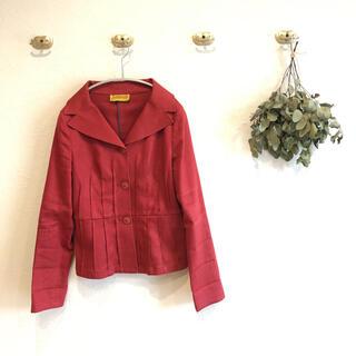 ホコモモラ(Jocomomola)の可愛い赤のジャケット 40サイズ(テーラードジャケット)