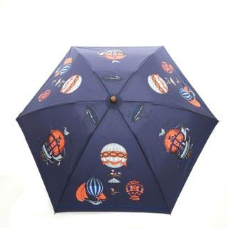 アザー(other)のマニプリ カーニバル 折り畳み気球柄日傘 雨傘 晴雨兼用 総柄 バンブー 紺(傘)