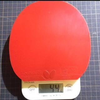 バタフライ(BUTTERFLY)のバタフライ テナジー19 赤 厚(卓球)