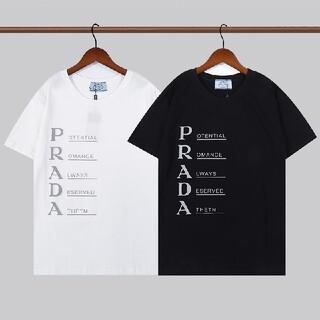 PRADA - 2枚8000円送料込み PRADA#HHS100501  Tシャツ 半袖 黒白