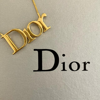 Christian Dior - クリスチャンディオール 💛 ヴィンテージ ロゴ ネックレス