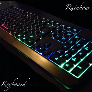 新品 レインボーキーボード ゲーミングキーボード USBキーボード 海外限定(PC周辺機器)