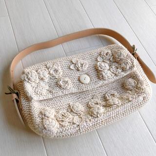 PINK HOUSE - ♡未使用品♡ カネコイサオ ニット お花 モチーフ バッグ