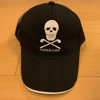 MARK&LONA - ☆新品☆ マークアンドロナ ゴルフ キャップ 帽子 黒 男女兼用