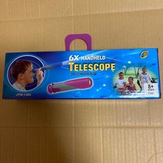 玩具 テレスコープ ピンク 6X HANDHELD TELESCOPE 望遠鏡(その他)