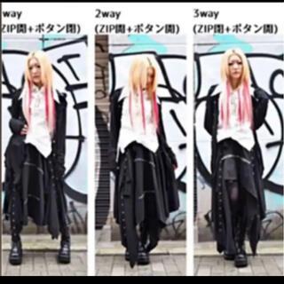 パンクゴシックロック原宿 ロングスカート3way(衣装一式)