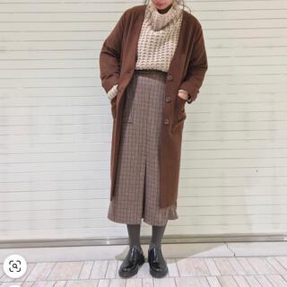 カスタネ(Kastane)のkastane カスタネ ハイウエストフロントタックチェックスカート(ロングスカート)