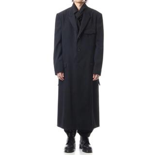 ヨウジヤマモト(Yohji Yamamoto)の値下げ Yohji Yamamoto 19aw ピークドラペルロングジャケット(チェスターコート)