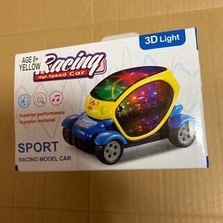 おもしろ雑貨 玩具 エレクトリック 3D ライトカー イエロー 光る走る車(電車のおもちゃ/車)