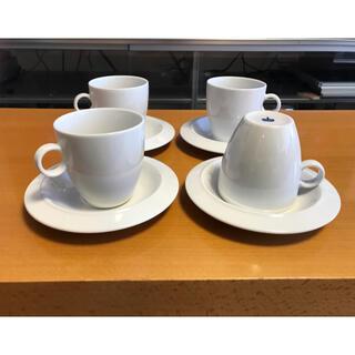 アレッシィ(ALESSI)のアレッシィ alessi BAVERO コーヒー カップ&ソーサー 4客(食器)